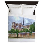 Notre-Dame Cathedral 2 Queen Duvet