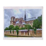 Notre-Dame Cathedral 2 Throw Blanket