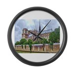 Notre-Dame Cathedral 2 Large Wall Clock