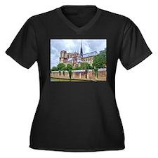 Notre-Dame Cathedral 2 Women's Plus Size V-Neck Da