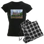 Notre-Dame Cathedral 2 Women's Dark Pajamas