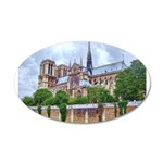 Notre-Dame Cathedral 2 22x14 Oval Wall Peel