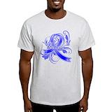 Colon cancer awareness Mens Light T-shirts