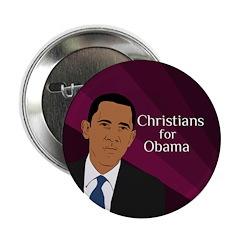 Christians for Obama political button