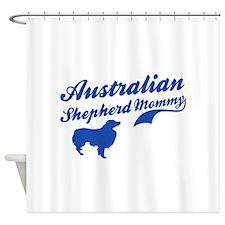 Australian Shepherd Mommy Shower Curtain