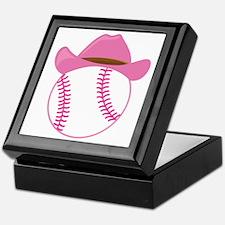 Softball Cowgirl Gift Keepsake Box