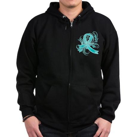 Ovarian Cancer Believe Zip Hoodie (dark)