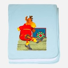 Soccer Moose baby blanket
