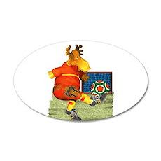 Soccer Moose 22x14 Oval Wall Peel