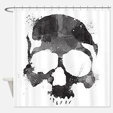 Watercolor Skull Shower Curtain