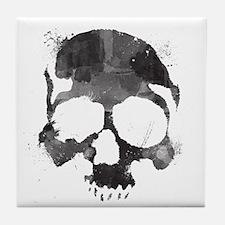 Watercolor Skull Tile Coaster