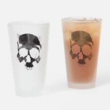Watercolor Skull Drinking Glass