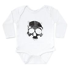 Watercolor Skull Long Sleeve Infant Bodysuit