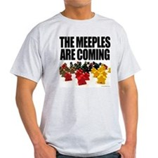 Meeples are Coming Ash Grey T-Shirt