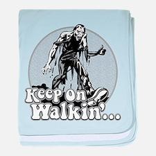 Keep On Walkin' baby blanket