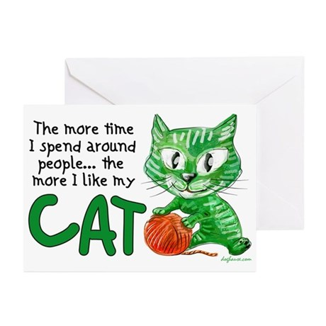 More Time (Cat) Greeting Cards (Pk of 10)