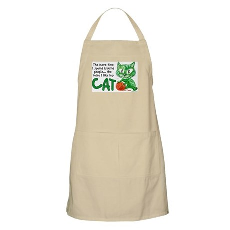 More Time (Cat) BBQ Apron