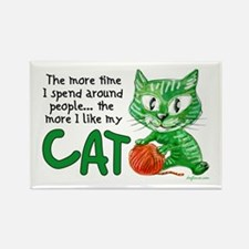 More Time (Cat) Rectangle Magnet