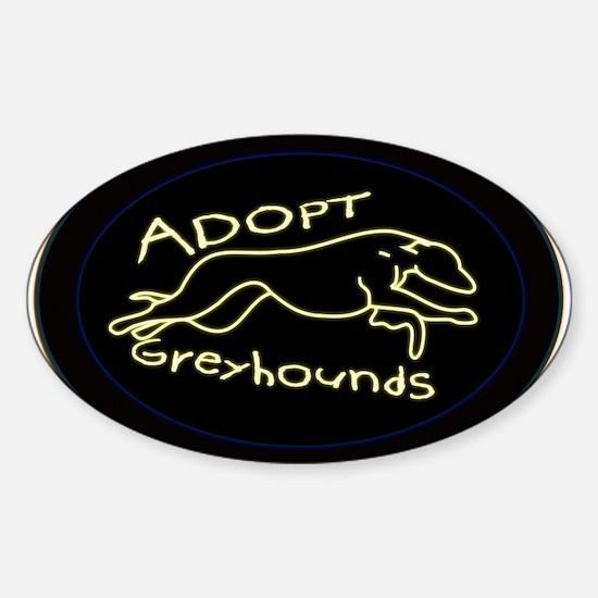 More Greyhound Logos Sticker (Oval)