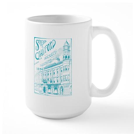 Opera House Block Illustration Large Mug
