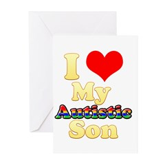 I Love My Autistic Son Greeting Cards (Pk of 20)