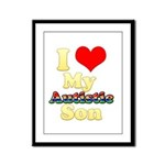 I Love My Autistic Son Framed Panel Print