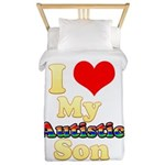 I Love My Autistic Son Twin Duvet