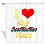 I Love My Autistic Son Shower Curtain