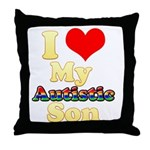I Love My Autistic Son Throw Pillow