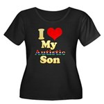 I Love My Autistic Son Women's Plus Size Scoop Nec