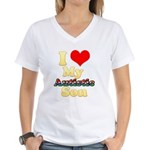 I Love My Autistic Son Women's V-Neck T-Shirt