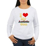 I Love My Autistic Son Women's Long Sleeve T-Shirt