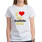 I Love My Autistic Son Women's T-Shirt