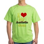 I Love My Autistic Son Green T-Shirt