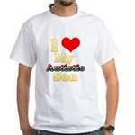 I Love My Autistic Son White T-Shirt