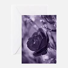Cute Purple rose Greeting Card