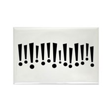 Exclamations Rectangle Magnet