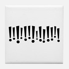 Exclamations Tile Coaster