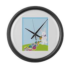 Easter Egg Hunt Large Wall Clock