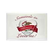 Illinois Heart Designs Rectangle Magnet