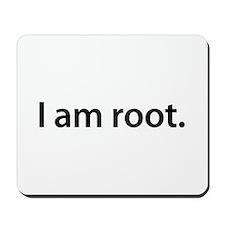 I am root. - Mousepad