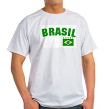Brazil (Brasil) Ash Grey T-Shirt