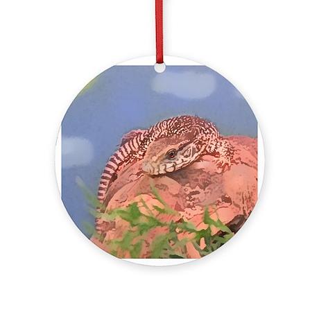 Savanna Monitor Ornament (Round)