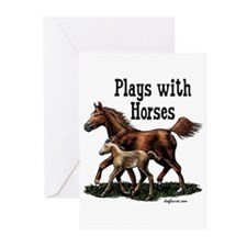 Plays with Horses Greeting Cards (Pk of 10)