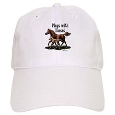 Plays with Horses Baseball Cap