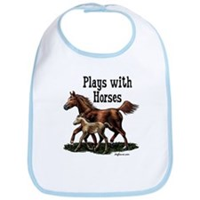 Plays with Horses Bib