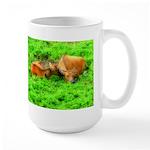 Nuzzling Cows Large Mug