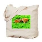 Nuzzling Cows Tote Bag