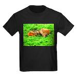 Nuzzling Cows Kids Dark T-Shirt