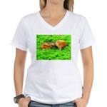 Nuzzling Cows Women's V-Neck T-Shirt
